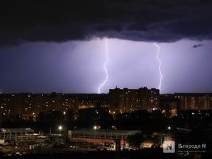 Грозы, град и порывистый ветер надвигаются на Нижегородскую область