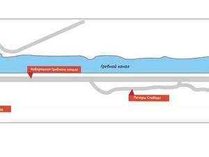 Набережную Гребного канала перекроют из-за соревнований по триатлону
