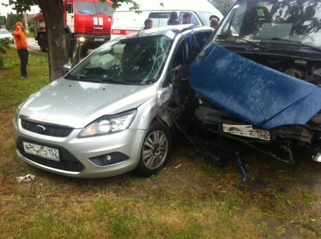 Трое пострадали в аварии в Семенове по вине автоледи на Ford'e - фото 1