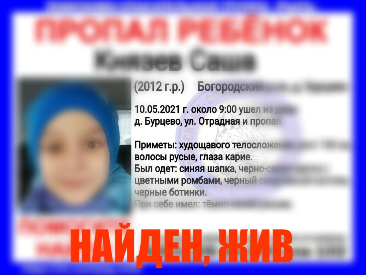 Девятилетнего ребенка разыскивали в Богородском районе - фото 1