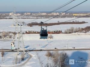 Канатная дорога в Нижнем Новгороде перешла на зимний режим работы