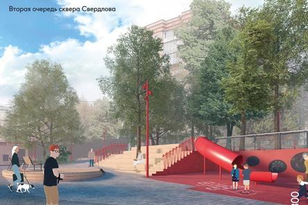 Амфитеатр начали монтировать в сквере Свердлова в Нижнем Новгороде