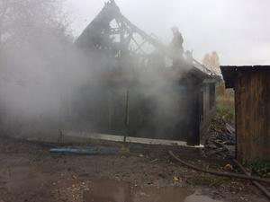 Нижегородец получил серьезные ожоги при пожаре в садовом доме