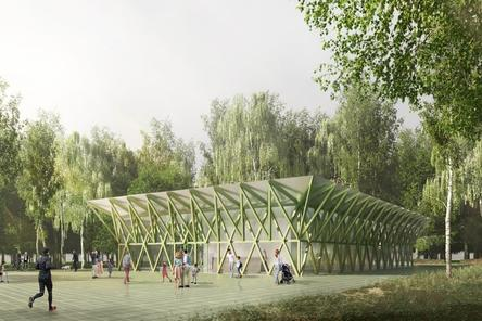 Прозрачный спортивный павильон появится в парке «Швейцария»