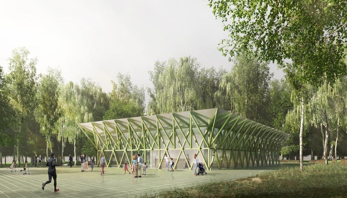Прозрачный спортивный павильон появится в парке «Швейцария» - фото 1