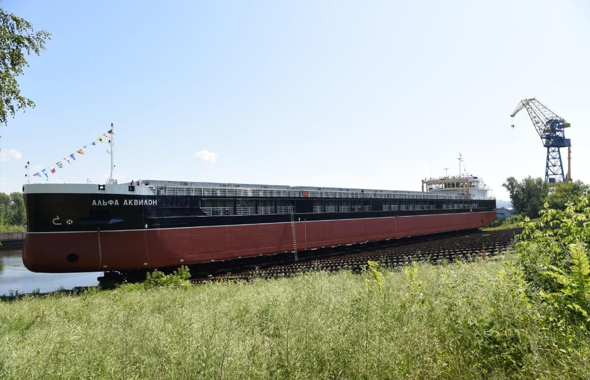 Сухогруз «Альфа Аквилон» спустили на воду на заводе «Красное Сормово» - фото 1