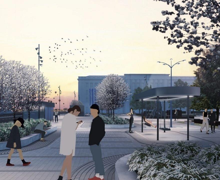 Новый остановочный павильон появился на площади Маркина - фото 1