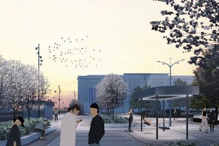 Новый остановочный павильон появился на площади Маркина