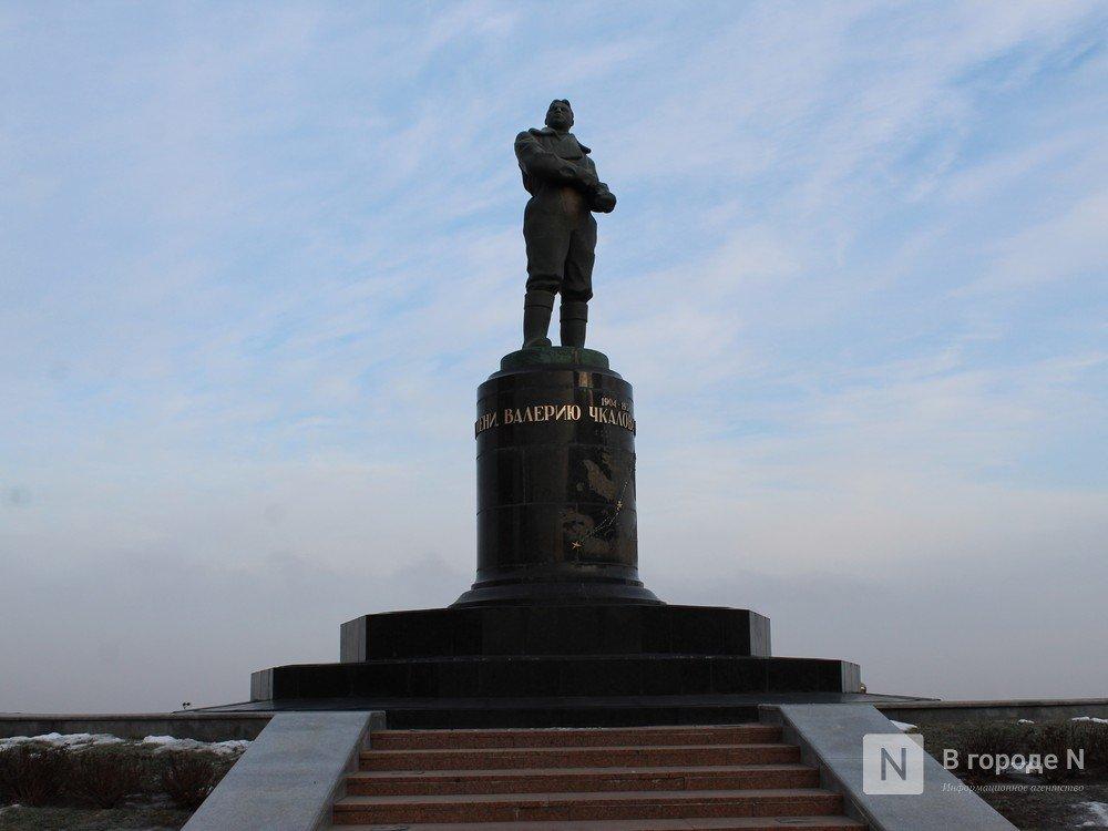Памятник Чкалову отреставрировали в Нижнем Новгороде - фото 1