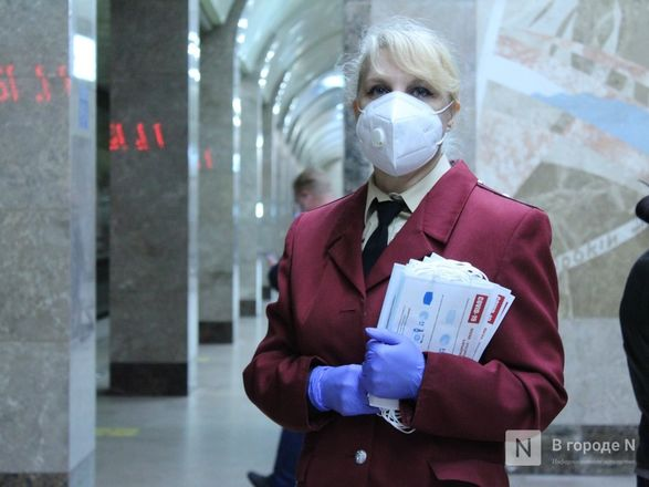 200 пассажиров нижегородского метро получили бесплатные маски - фото 19