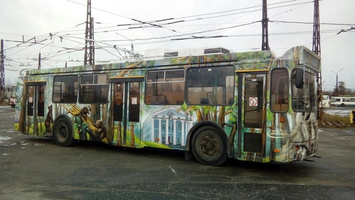 Шишкинские мотивы появились на троллейбусе в Дзержинске - фото 1
