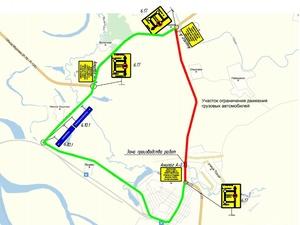 Движение грузового транспорта на подъезде к Навашину ограничат на год